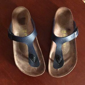 Women's Birkenstock Sandals, Navy, Size 38